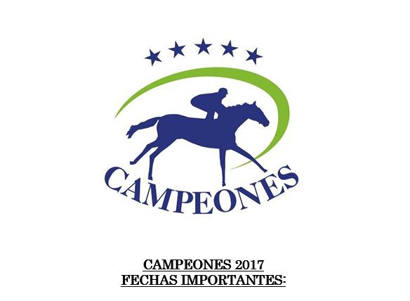 Campeones 2017, fechas importantes: