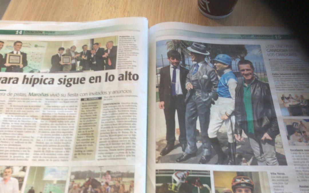 La visita de Falero y Ricardo en la prensa