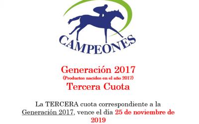 Generación 2017 – Segunda Cuota
