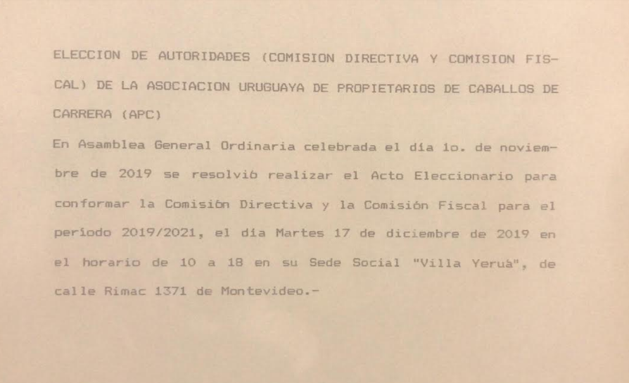 Elección de autoridades