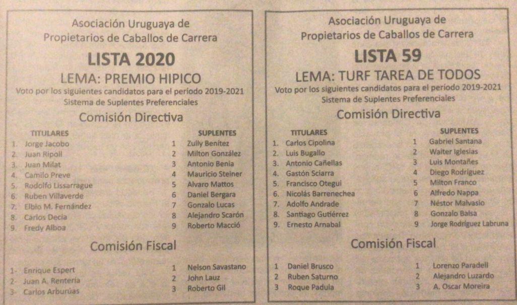 Elección de autoridades este próximo martes.