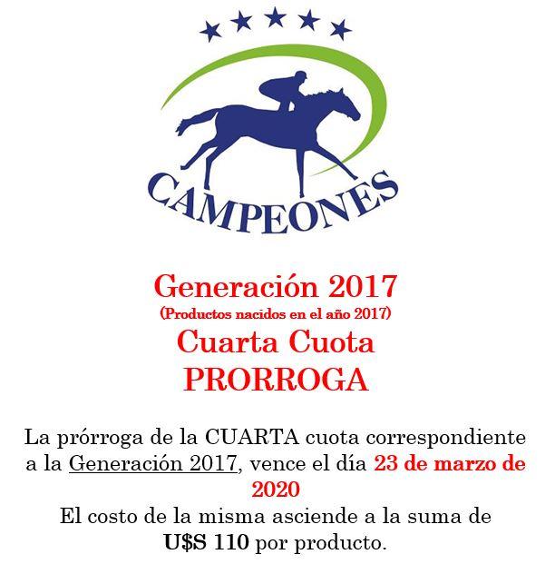 Campeones – Generación 2017 – Cuarta Cuota